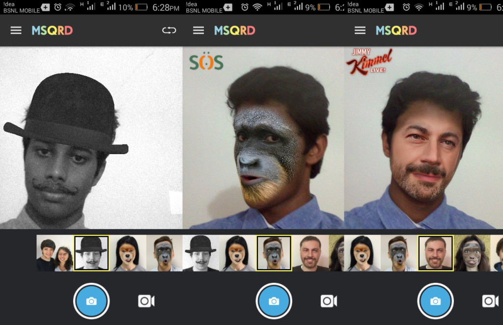 MSQRD App goes viral on the Google Play store; Masquerade yourself in selfie videos 5