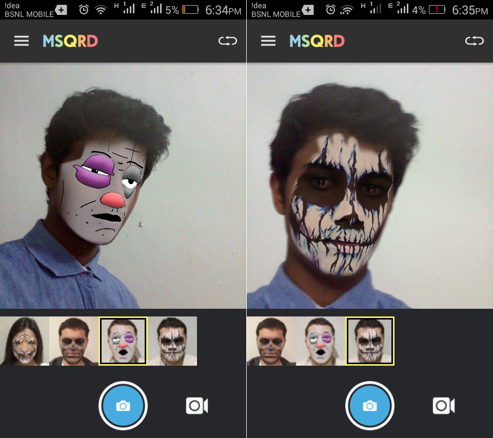 MSQRD App goes viral on the Google Play store; Masquerade yourself in selfie videos 4
