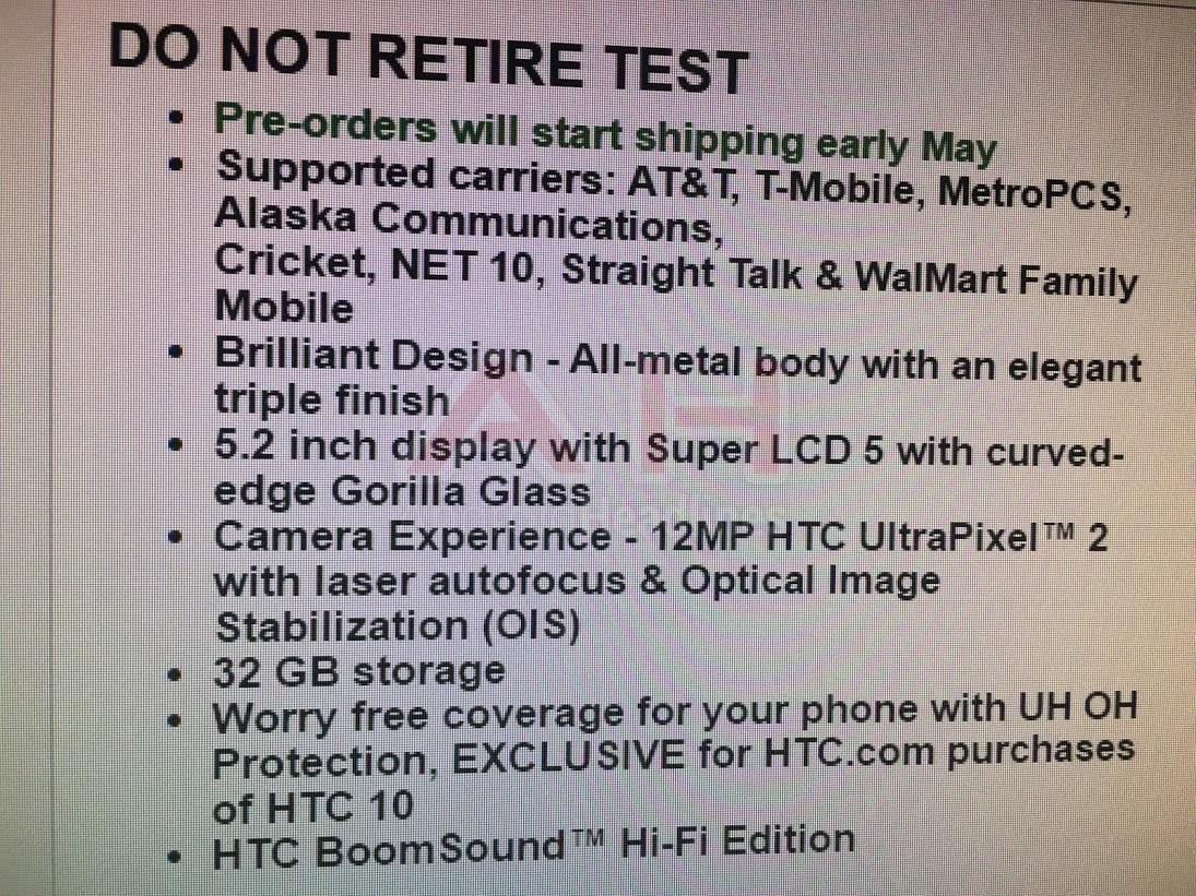 HTC-10-Spec