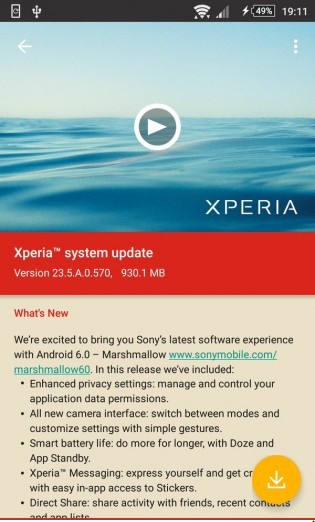 Sony releases Android Marshmallow update for XperiaZ3 Dual, Z2 Tablet & other Z2/Z3 variants 2