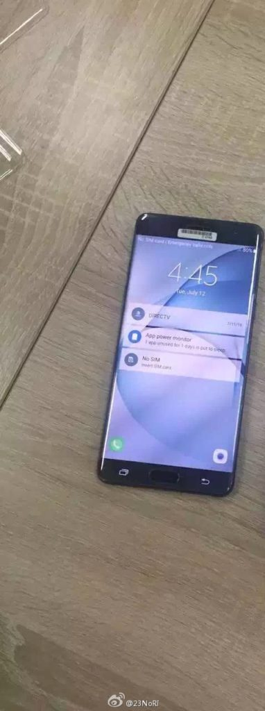 Samsung Galaxy Note 7 images leaked again with 'screen on' 1