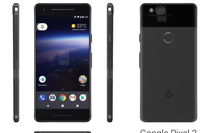 3D Renders of Google Pixel 2 leaked, Shows a completely different design 5