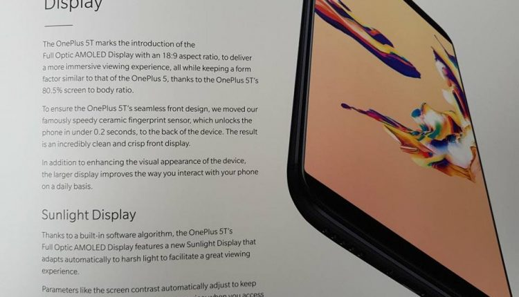 OnePlus 5T Photographs And User Manual Leaked Ahead Of The Official Launch 4