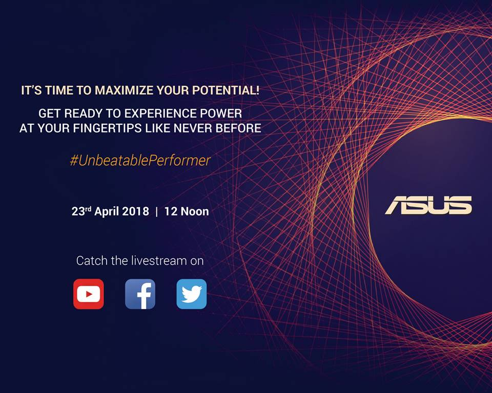 10) Asus sends out media invites and opens livestream for 23rd launch event
